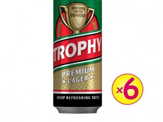 Trophy Lager Beer 500ml - Pack Of 6