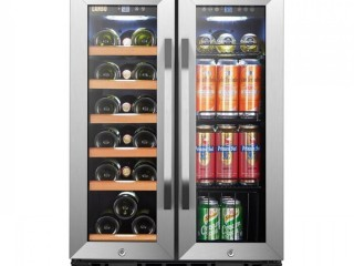 18 Bottle and 55 Can Dual Zone Freestanding Wine and Beverage Refrigerator